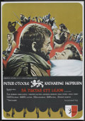 "Movie Posters:Historical Drama, The Lion in Winter (Avco Embassy, 1970). Swedish One Sheet (27.5"" X39.5"") Flat Folded. Historical Drama.. ..."