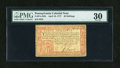 Colonial Notes:Pennsylvania, Pennsylvania April 10, 1777 40s PMG Very Fine 30....