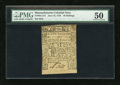 Colonial Notes:Massachusetts, Massachusetts June 18, 1776 48s PMG About Uncirculated 50....