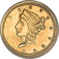 California Fractional Gold, 1854 50C Liberty Round 50 Cents, BG-436, R.6, MS61 PCGS....