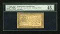 Colonial Notes:Pennsylvania, Pennsylvania March 16, 1785 2s6d PMG Choice Extremely Fine 45EPQ....