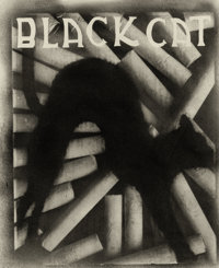 PIERRE DUBREUIL (French, 1872-1944) Black Cat Cigarettes, circa 1930 Vintage oil print, circa 1930