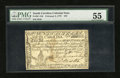 Colonial Notes:South Carolina, South Carolina February 8, 1779 $70 PMG About Uncirculated 55....