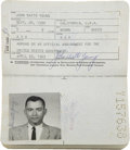 Explorers:Space Exploration, John Young's Official United States Passport, April 23, 1963- April22, 1968, Directly from his Personal Collection, Signed Tw...