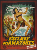"Movie Posters:Adventure, Love Slaves of the Amazons (Universal International, 1957). FrenchGrande (47"" X 63""). Adventure.. ..."
