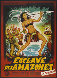 "Love Slaves of the Amazons (Universal International, 1957). French Grande (47"" X 63""). Adventure"