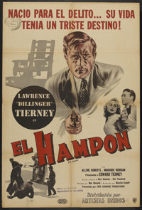 """The Hoodlum (United Artists, 1951). Argentinean Poster (29"""" X 43""""). Crime"""