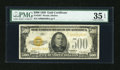 Small Size:Gold Certificates, Fr. 2407 $500 1928 Gold Certificate. PMG Choice Very Fine 35 EPQ.. ...