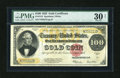 Large Size:Gold Certificates, Fr. 1215 $100 1922 Gold Certificate PMG Very Fine Net 30....