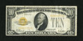 Small Size:Gold Certificates, Fr. 2400 $10 1928 Gold Certificate. Fine+.. ...