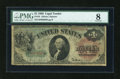 Large Size:Legal Tender Notes, Fr. 18 $1 1869 Legal Tender PMG Very Good 8....