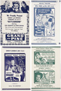 Memorabilia:Movie-Related, Vintage Movie Herald Group (1940s-50s).... (Total: 12 Items)