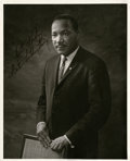 "Autographs:Celebrities, Martin Luther King Jr. Photo Signed. Image size 8"" x 10"", [early 1960s], [Denver, Colorado]. This formal studio photograph o..."
