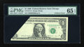 Error Notes:Foldovers, Fr. 1914-G $1 1988 Federal Reserve Note. PMG Gem Uncirculated 65EPQ.. ...