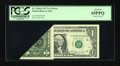 Error Notes:Foldovers, Fr. 1910-K $1 1977A Federal Reserve Note. PCGS Gem New 65PPQ.. ...
