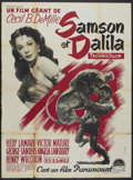 "Movie Posters:Adventure, Samson and Delilah (Paramount, 1949). French Grande (47"" X 63"").Adventure.. ..."