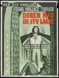 """Chamber of Horrors (Absalon-Film, 1947-1948). Danish Poster (25"""" X 33"""") Also known as The Door with Seven Lock..."""