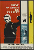"Movie Posters:Action, Bullitt (Warner Brothers, 1968). Spanish Poster (26.5"" X 38.5"").Action.. ..."
