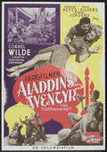 "Movie Posters:Adventure, A Thousand and One Nights (Columbia, 1946). Swedish One Sheet(27.5"" X 39.5""). Adventure.. ..."