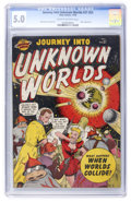 Golden Age (1938-1955):Science Fiction, Journey Into Unknown Worlds #37 (#2) (Atlas, 1950) CGC VG/FN 5.0Cream to off-white pages....