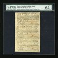 Colonial Notes:North Carolina, North Carolina December 1771 Sheet of Three 2s6d, £1 and 10s PMGChoice Uncirculated 64....