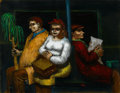 Fine Art - Painting, American:Modern  (1900 1949)  , ALBERT PELS (American, 1910-1998). The New York Subway. Oilon canvas. 14 x 18 inches (35.6 x 45.7 cm). Signed lower rig...