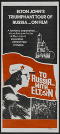 "Movie Posters:Rock and Roll, To Russia With Elton (Unknown, 1979). Australian Daybill (13.25"" X30""). Rock and Roll.. ..."