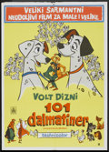 "Movie Posters:Animated, 101 Dalmatians (Buena Vista, 1961). Yugoslavian Poster (19.75"" X 27.5""). Animated.. ..."