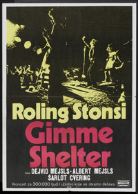 "Gimme Shelter (Makedonija Film, 1971). Yugoslavian Poster (19.5"" X 27.5""). Rock and Roll"