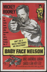 """Baby Face Nelson (United Artists, 1957). One Sheet (27"""" X 41""""). Crime"""