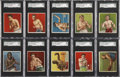 """Boxing Cards:General, 1910 T218 Mecca """"Series of Champion Athletes & Prize Fighters"""" Complete Boxers Set (62) - A Matching Brand Set...."""