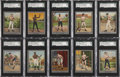 """Boxing Cards:General, 1910 T220 Mecca Silver Borders """"Boxers"""" Near Set (23/26)...."""
