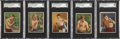 "Boxing Cards:General, 1910 T219 Honest Long Cut ""Series of Champion Pugilists"" SGC-GradedGroup of (5)...."