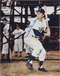 Autographs:Others, Duke Snider Signed Photo and Warren Spahn Signed Perez SteelePostcard. ... (Total: 2 items)