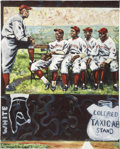 Baseball Collectibles:Others, Pittsburgh Crawfords Negro League Painting....