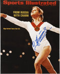 Olympic Collectibles:Autographs, Olga Korbut Signed Photograph....