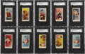 """Boxing Cards:General, 1910 E77 American Caramel """"Prize Fighters"""" SGC-Graded Complete Set(24) Plus Variations...."""