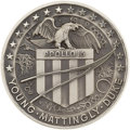 Explorers:Space Exploration, Apollo 16 Flown Silver Robbins Medallion Directly from the PersonalCollection of Mission Commander John Young, Serial Number ...