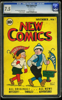 New Comics #10 (DC, 1936) CGC VF- 7.5 OFF-WHITE pages