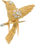Estate Jewelry:Brooches - Pins, Diamond, Gold Clip-Brooch, Cartier, French. ...