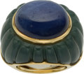 Estate Jewelry:Rings, Sapphire, Nephrite, Gold Ring. ...