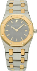 Timepieces:Wristwatch, Audemars Piguet Two Tone Lady's Royal Oak, circa 2000. ...