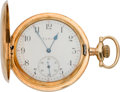 Timepieces:Pocket (pre 1900) , Elgin Gold 23 Jewel Hunters Case, circa 1898. ...