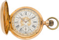 Timepieces:Pocket (pre 1900) , Pateck & Cie. Geneve 18k, 52 mm, Gold Hunters Case with FancyDial, circa 1890. ...