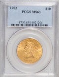 Liberty Eagles: , 1902 $10 MS63 PCGS. PCGS Population (84/20). NGC Census: (71/25).Mintage: 82,400. Numismedia Wsl. Price for NGC/PCGS coin ...