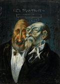 Fine Art - Painting, American:Modern  (1900 1949)  , ALBERT PELS (American, 1910-1998). Reprobates. Oil on panel.13-3/4 x 10 inches (34.9 x 25.4 cm). Inscribed verso: 2. ...
