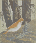 Latin American:Contemporary, JAMES DEXTER HAVENS . (American, 1900-1960). She Veery,1949. Woodcut on paper. 9-1/2 x 8 inches (24.1 x 20.3 cm). Numbe...