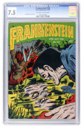 Golden Age (1938-1955):Horror, Frankenstein Comics #24 (Prize, 1953) CGC VF- 7.5 Off-white towhite pages....