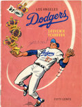 Baseball Collectibles:Publications, 1967 Los Angeles Dodgers Souvenir Yearbook....