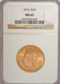 Indian Eagles, 1913 $10 MS63 NGC....